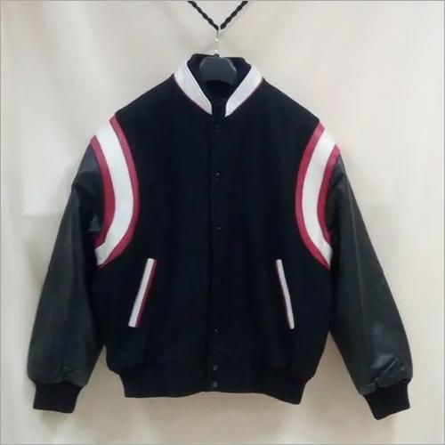Varsity Jacket with Shoulder Inserts