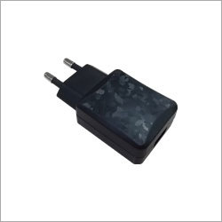 USB Power Adapter Euro Type 5V2A with texture black