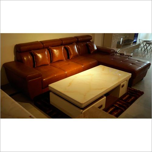Leather 5 Seater Corner Sofa