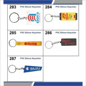 Silicon rubber keychains