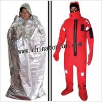Marine Immersion Suit with Repairing Tool