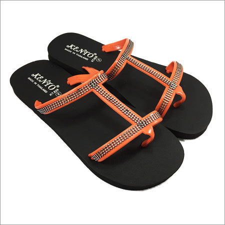 Ladies KT Orange Flip Flops