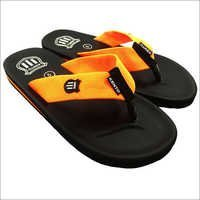 Orange Strip Flip Flops