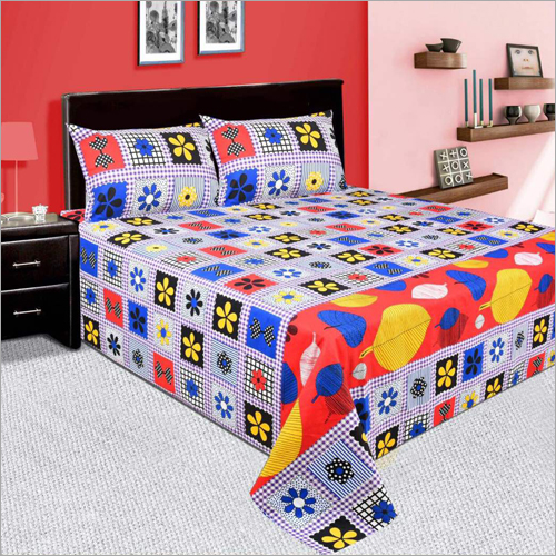 Multicolour Double Bed Sheet
