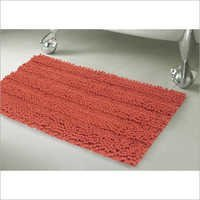 Striped Plush Bath Mat