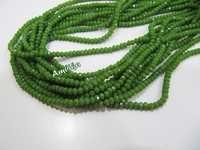 Hydro Quartz Dark Green Chalcedony Beads