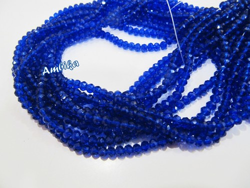 Hydro Quartz Lapis Lazuli Micro Faceted Beads