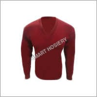 School Full Sleeve Dark Red Sweater