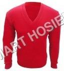 V-Neck Red Pullover