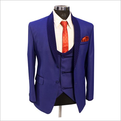 Blue Slim Fit 3 Piece Suit