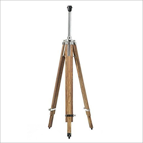 Timber Tripod Floor Lamp Stand Teak Wood