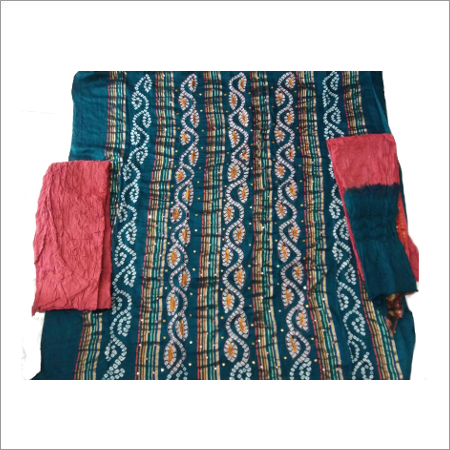 Bandhani Dress Materials With Mirror Hand Work