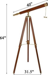 Kartique Antique Long Brass Refracting Telescop