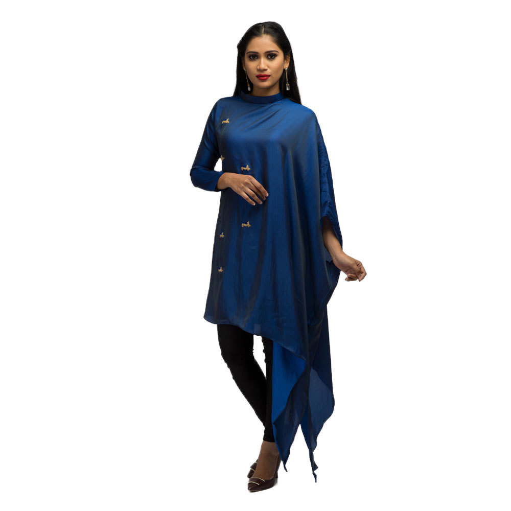 Ladies Kaftan Style Tunic With Hand Embroidery Front
