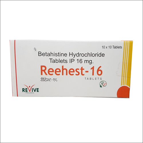 Betahistine Hydrochloride Tablets IP 16 Mg