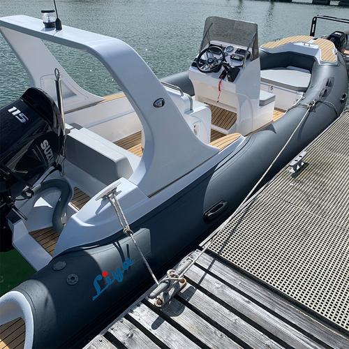Liya 6.6m/22feet Rib Hypalon Inflatable Boat Sports Fishing Boats For Sale