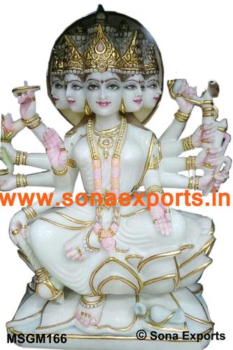 Marble Statues of goddess Gayatri Mata Murti