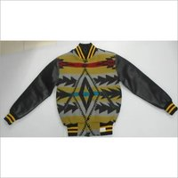 Patterned Wool Varsity