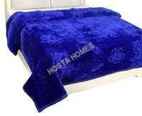 Floral Embossed Soft Double Bed Mink Blanket All Weight Available