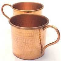 HAMMERED COPPER MUG SET OF 2