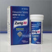 Zurig Febuxostat 80mg Tablets