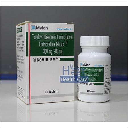 Ricovir EM Emtricitabine 200 mg Tenofovir 300 mg