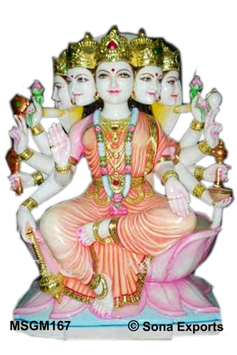 White Marble Gayatri Mata Statue Manufacturer