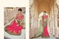 Embroidered Work Designer Net Sarees