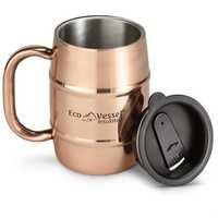 EcoVessel Double Barrel Insulated Copper Beer Coffee Mug