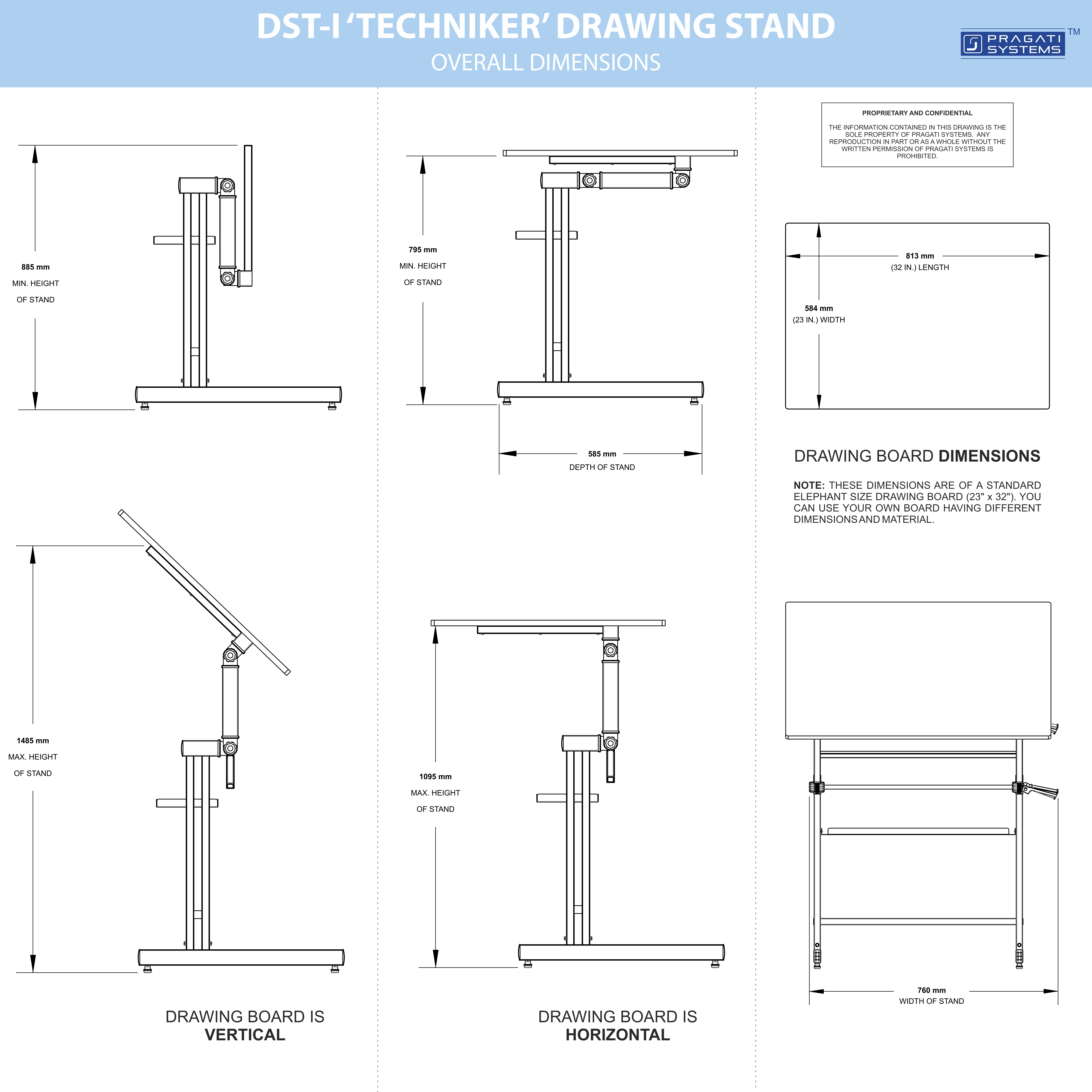 Drawing Stand (Drafting Table) Imperial Size DST-I