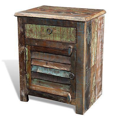 Reclaimed wood bedside
