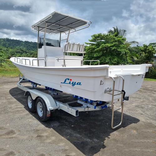 Liya 4.2m-7.6m Commercial Fiberglass Fishing Boats Panga Sport Boats For Sale
