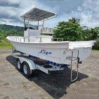 Liya 4.2m-7.6m Commercial Fiberglass Fishing Boat Panga Sport Boats For Sale