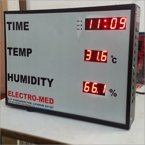 Temp Humidity Indicator With Clock