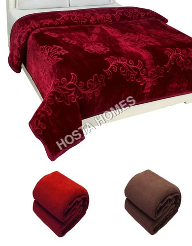 Single Bed Embossed Mink Blanket