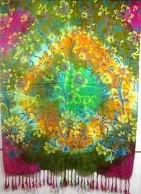 Multi colours viscose printed shawls