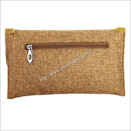 Ladies Jute Clutch Bags