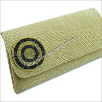 Personalized Jute Clutch Bags