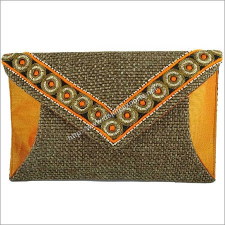 Traditional Jute Clutch Bag