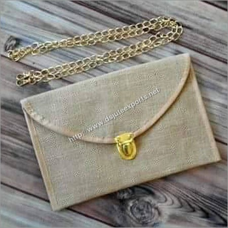 Ladies Stylish Jute Clutch Bag