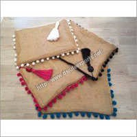 Jute Clutch Bag Set
