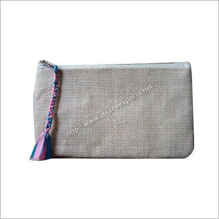 Handmade Jute Zippered Clutch Bags