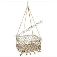 Cream Cotton Baby Swing