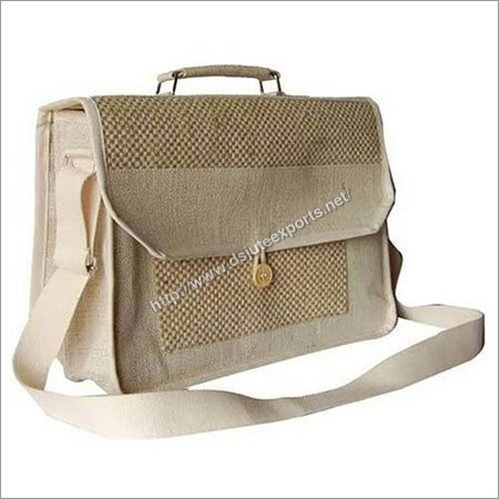 Jute Canvas Laptop Bag