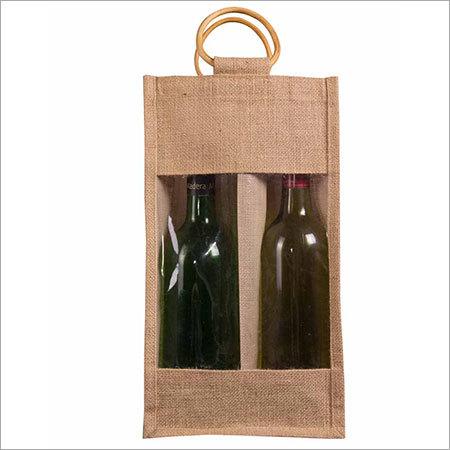 2 Bottle Jute Bag