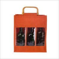 6 Bottle Coloured Jute Bag