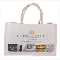 White Jute Bag with Digital Print