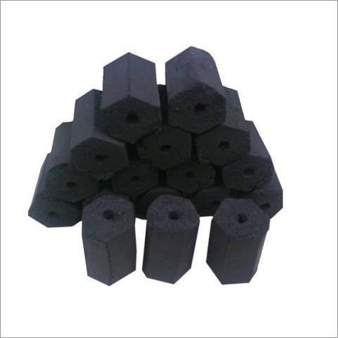 Hexagonal Coconut Shell Charcoal Briquette