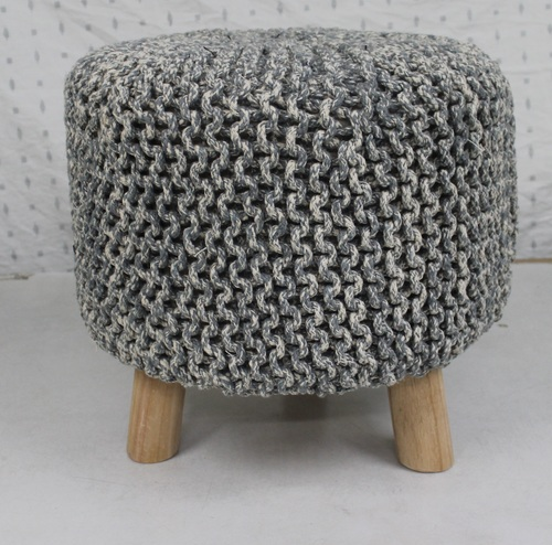 Hand Knitted Footstool