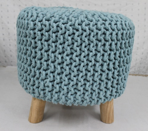 Knitted Pouffe Footstool